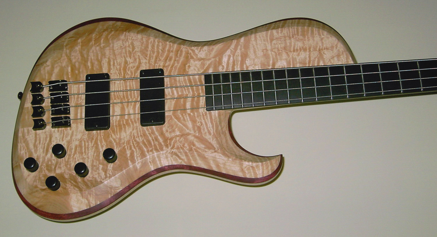 4-Str. Body Quilted Maple - Amaranth