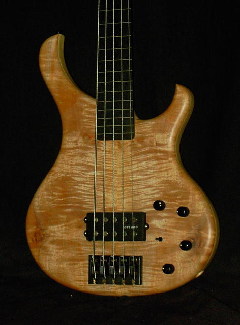 BaseX 5-String Fretless Body American Flamed Maple Top